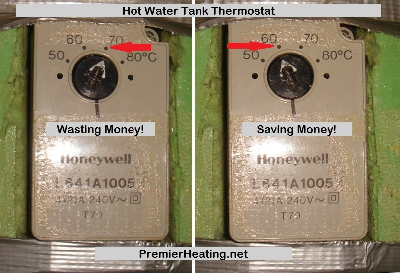 hot water temperature