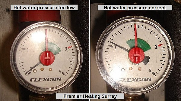 Boiler pressure - central heating hot water pressure - Premier Heating